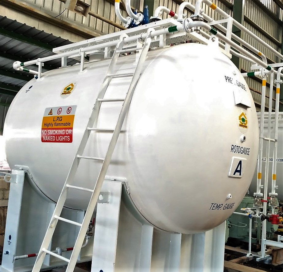 Liquefied Petroleum Gas Storage Tanks, Piping, Pumping, Pressure Train, Vaporizer, Metering etc.