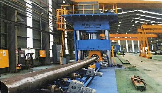 Pipe Straightening Press 2500 Tone Hanyoung Korea