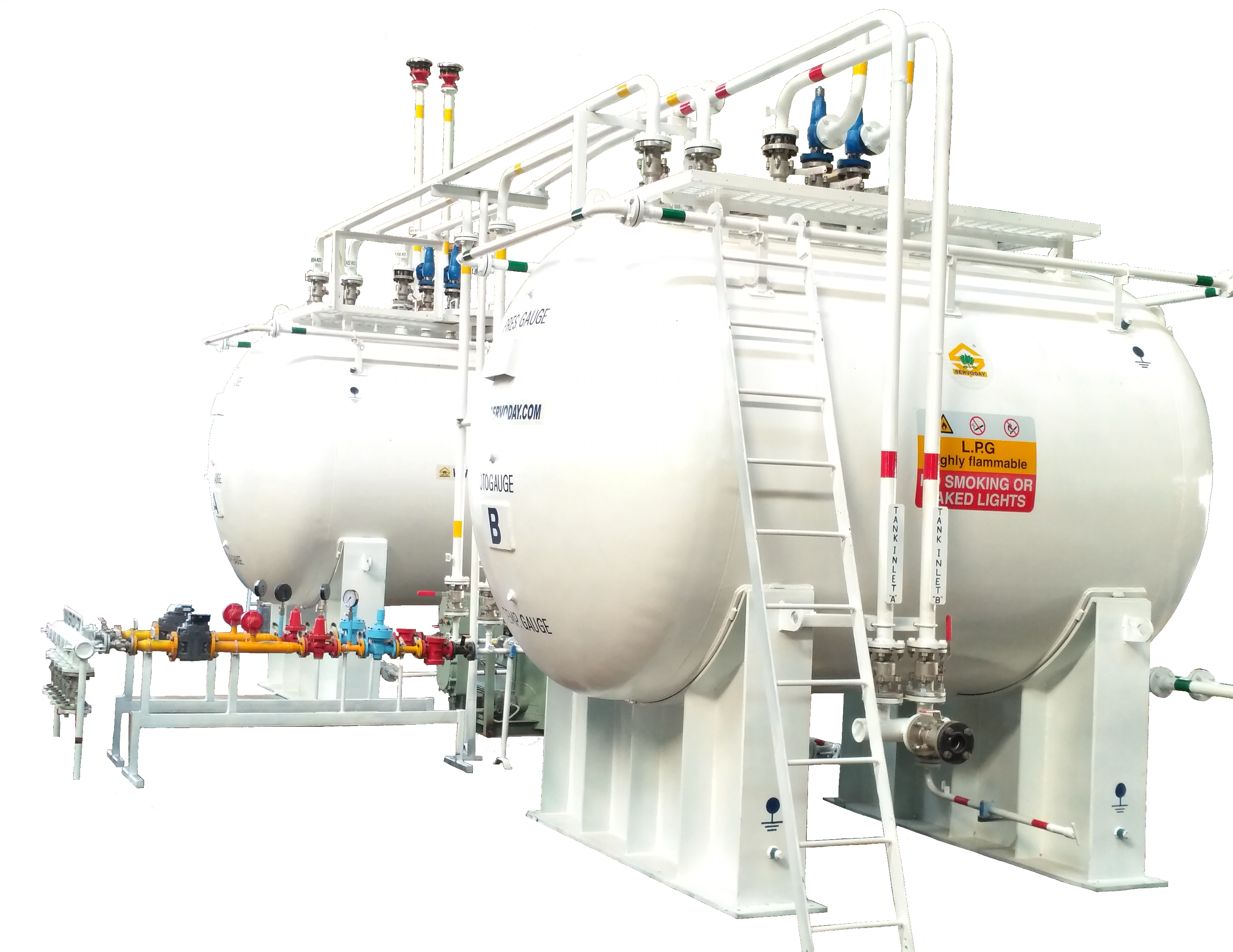 LPG Storage Tanks and Pressure Control System as supplied in Kenya