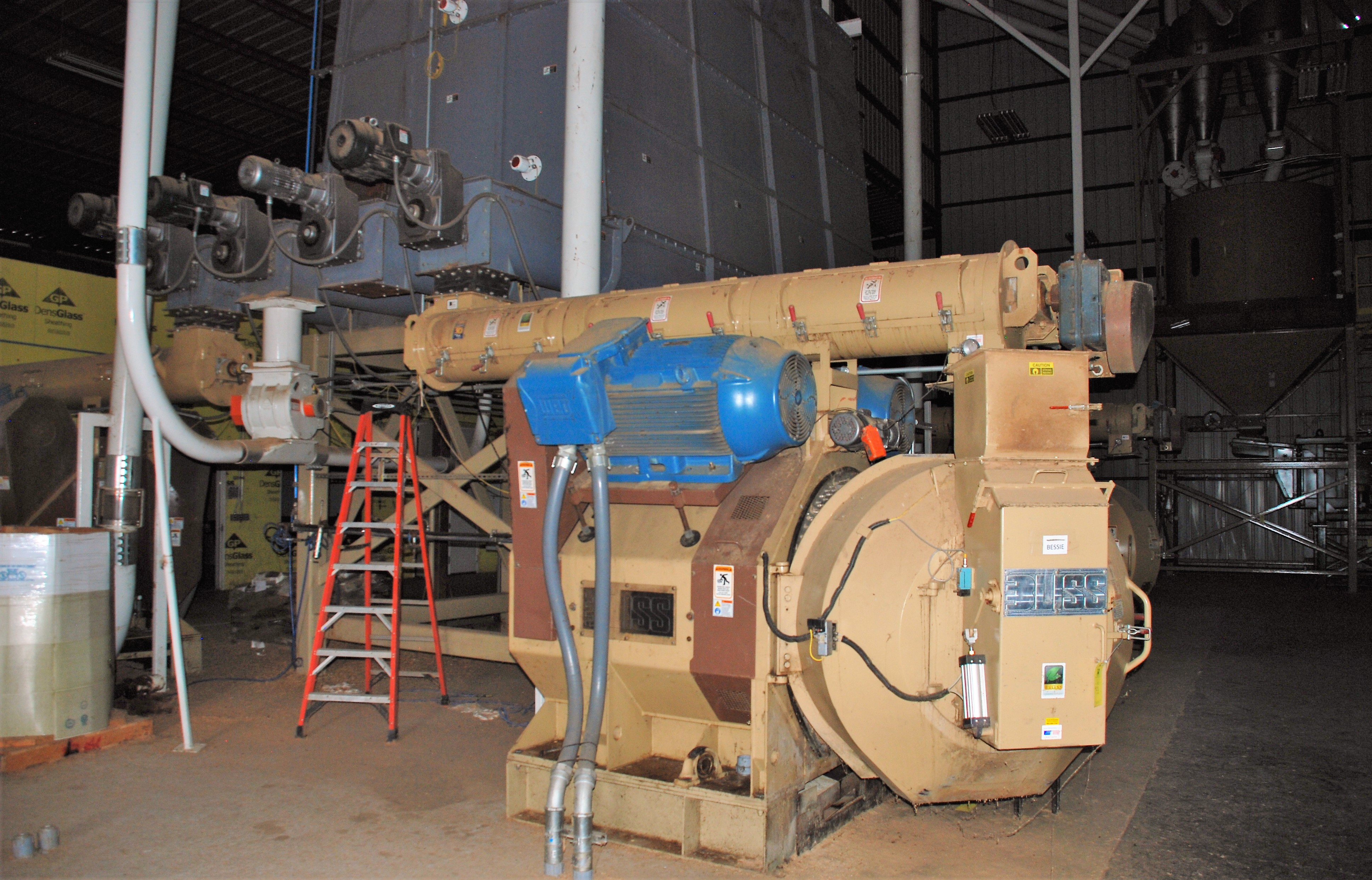 Bliss Pellet Mill for Wood installed in Plant
