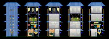 अत्याधुनिक ईंधन पेलेट टॉवर प्लांट