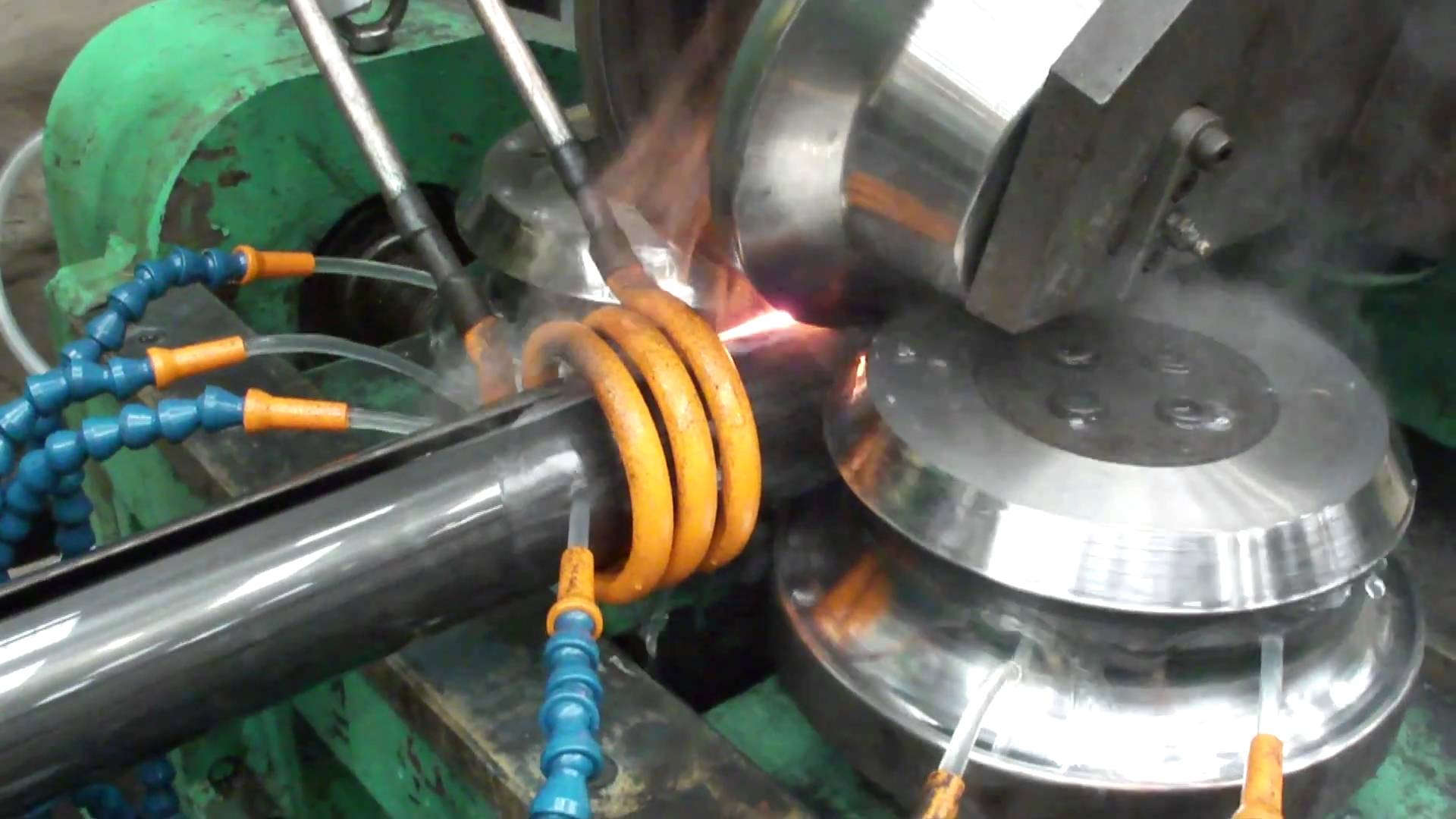 HF Welder - Tube Mill making Round Tube