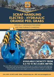 SCRAP HANDLING ELECTRO-HYDRAULIC ORANGE PEEL GRAB
